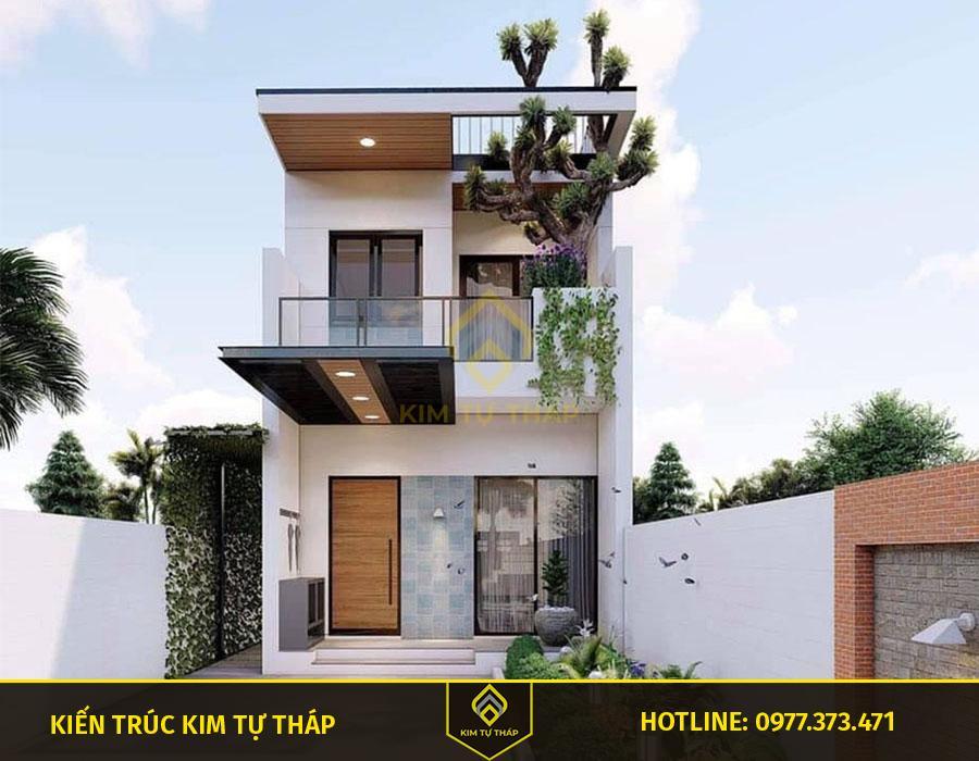 mẫu nhà tại Đồng Nai 2 tầng mái bằng