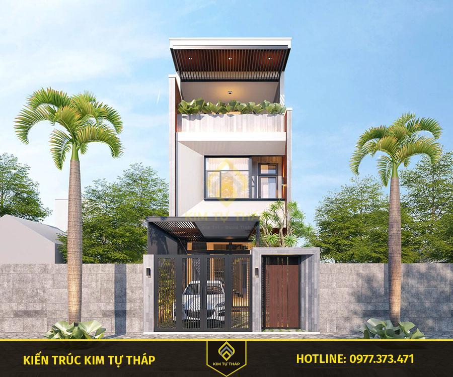 mẫu nhà tại Đồng Nai 3 tầng mái bằng