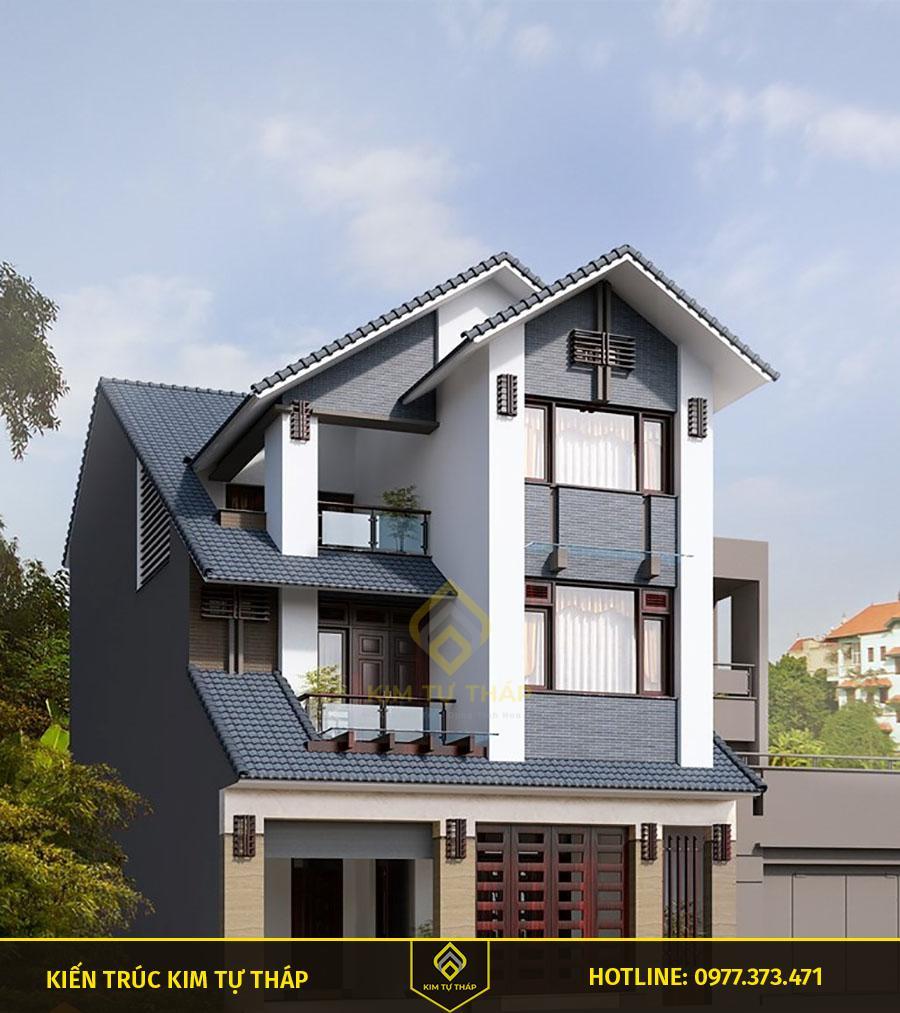 mẫu nhà phố 3 tầng mái thái