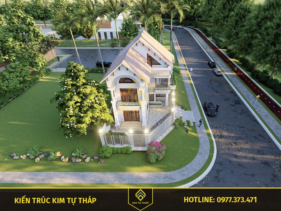 mẫu nhà phố mái thái 2 tầng đẹp