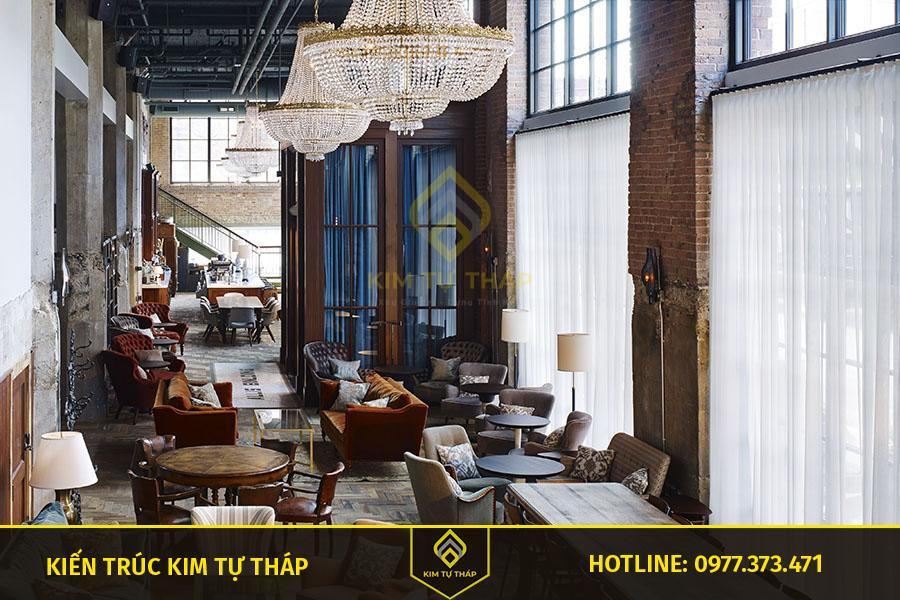mẫu thiết kế cafe phong cách bohemian