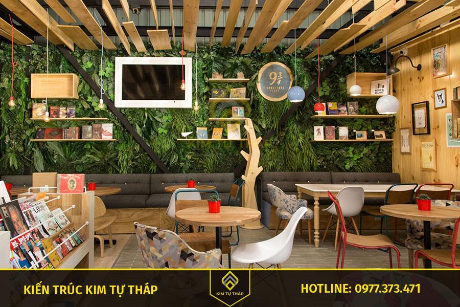 mẫu thiết kế cafe phong cách bohemian thu hút