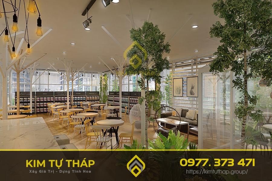 thiết kế quán cafe phong cách scandinavian