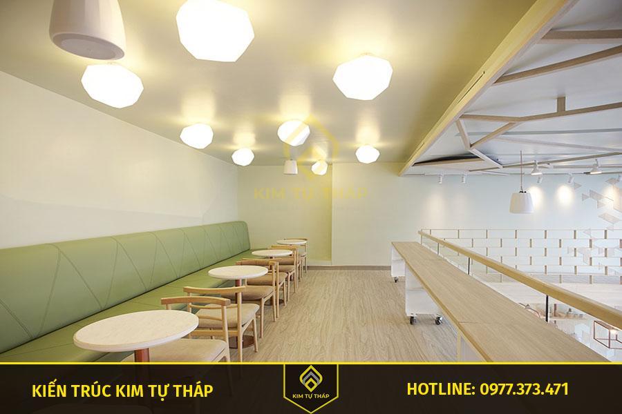 ánh sáng thiết kế quán cafe kiểu coastal đẹp